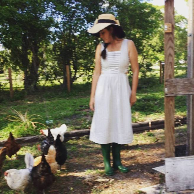 FYI: I do not usually farm in white dresses.